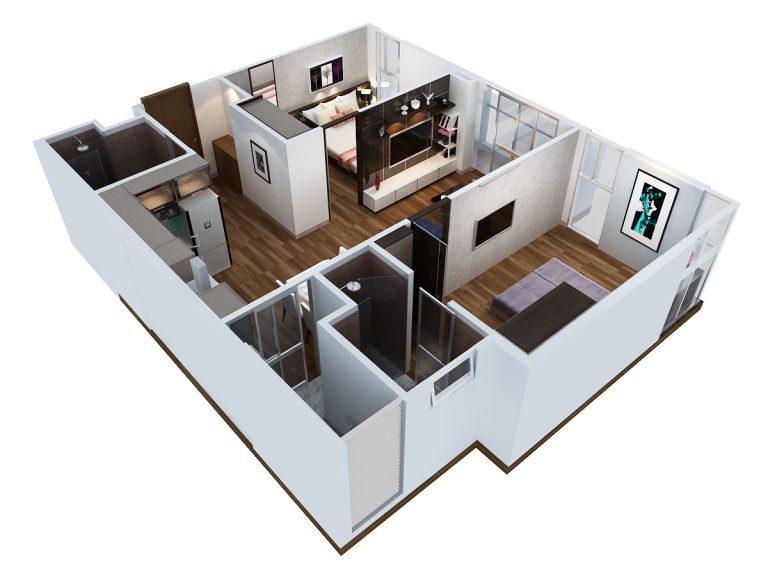 Thiết kế căn hộ 67m2