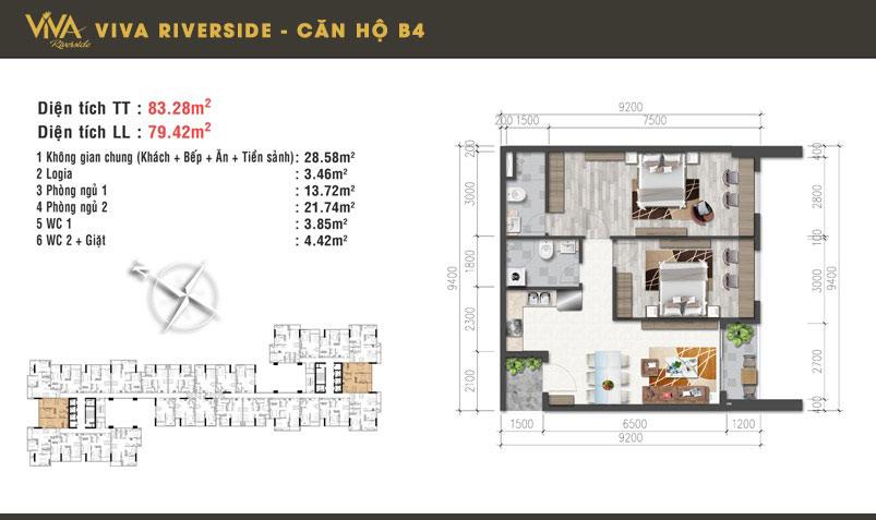 Thiết kế căn 2PN